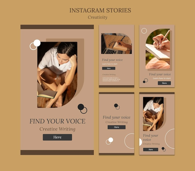 Escrita criativa de histórias de mídia social