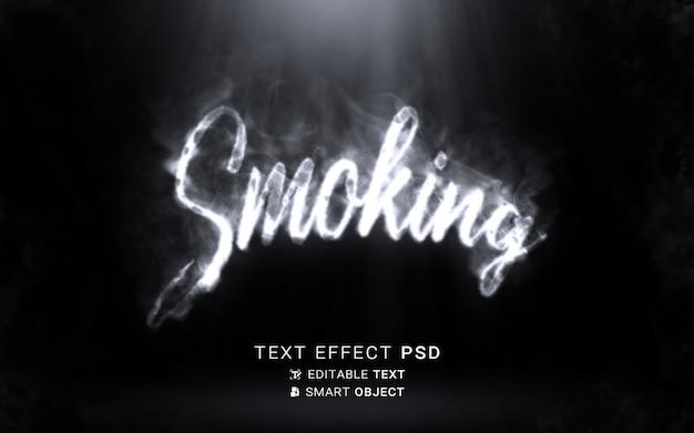 Escrita de efeito de texto de fumar