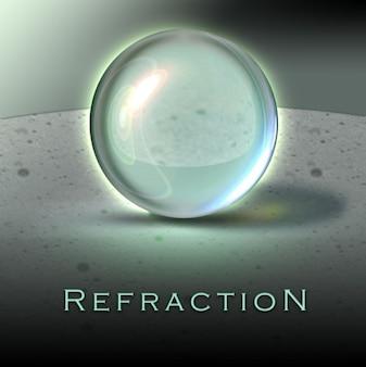 Esfera refração psd