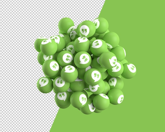 Esferas 3d do ícone de hangouts