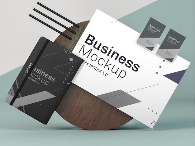 Espaço de cópia de mock-up de papelaria comercial
