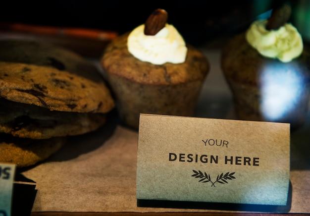 Espaço de design no cartão de papel