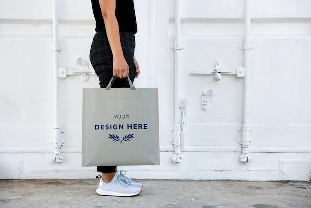 Espaço de design no saco de papel em branco