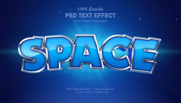 Espaço de efeito de texto de estilo de filme
