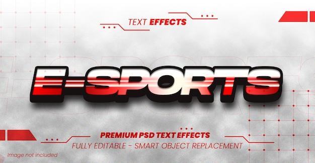 Esport efeito de texto