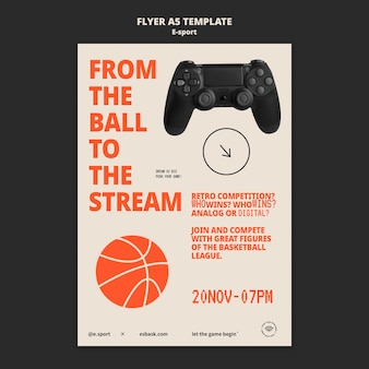 Esport flyer template design