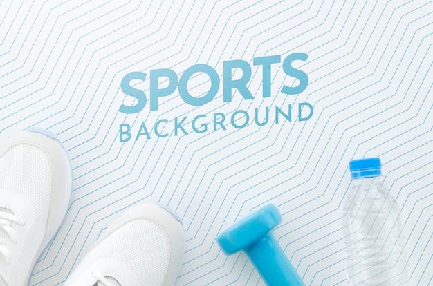 Esporte e hidratação com maquete