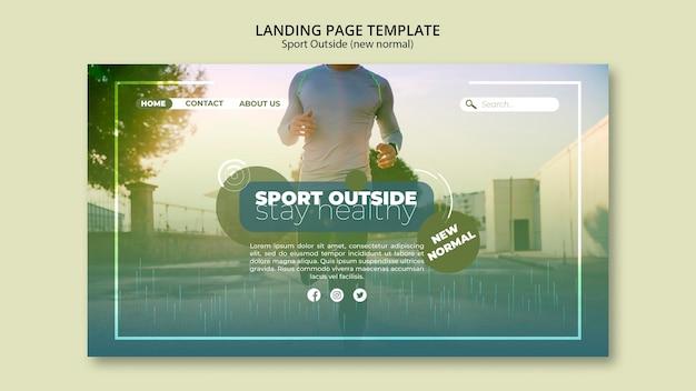Esporte fora do modelo da web da página de destino
