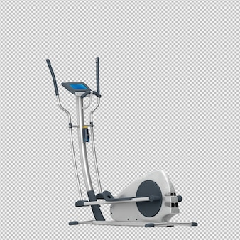 Esporte isométrico e equipamentos de ginástica renderização em 3d
