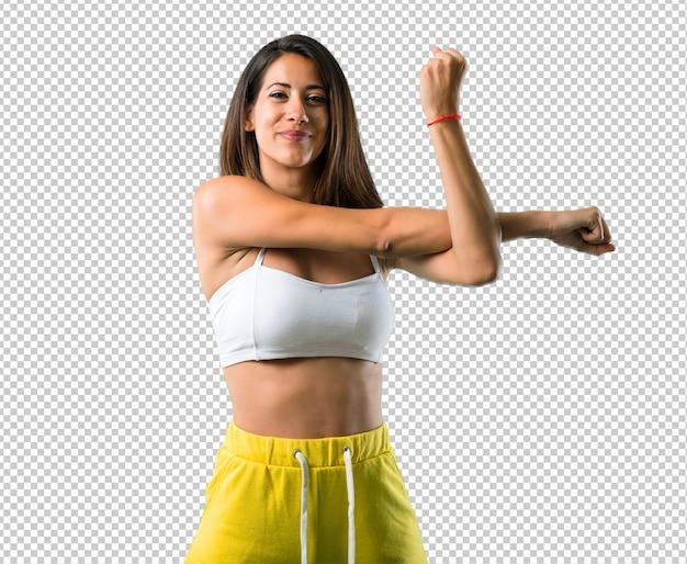 Esporte mulher alongamento