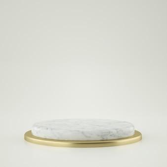 Estágio de ouro e mármore