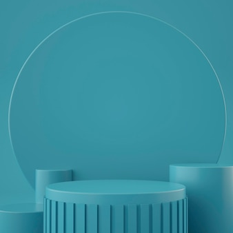 Estágio geométrico 3d holográfico para colocação de produto com fundo
