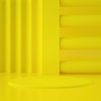 Estágio geométrico holográfico 3d para colocação de produtos com fundo e cores editáveis