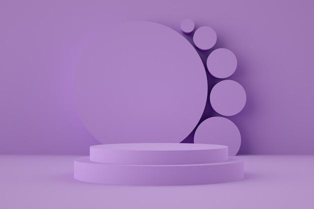 Estágio geométrico holográfico 3d para colocação de produtos