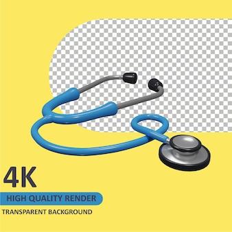 Estetoscópio do lado cartoon renderização de modelagem 3d