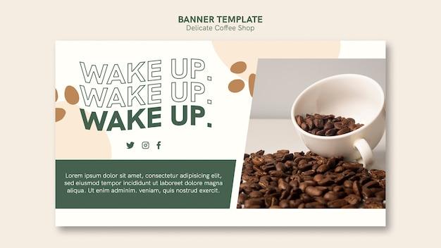 Estilo de banner de café delicado
