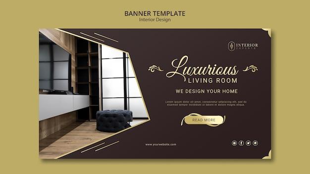 Estilo de banner de design de interiores