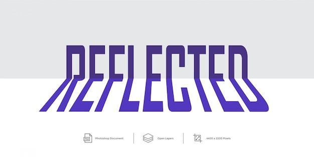 Estilo de camada de design de efeito de texto refletido