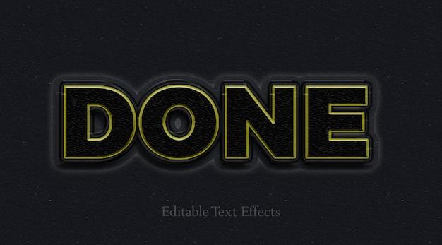 Estilo de camada de efeito de texto escuro e concluído