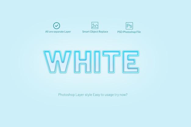 Estilo de camada de luz azul do photoshop