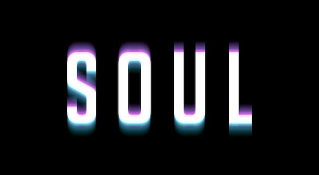 Estilo de camada de modelo de efeito de texto soul