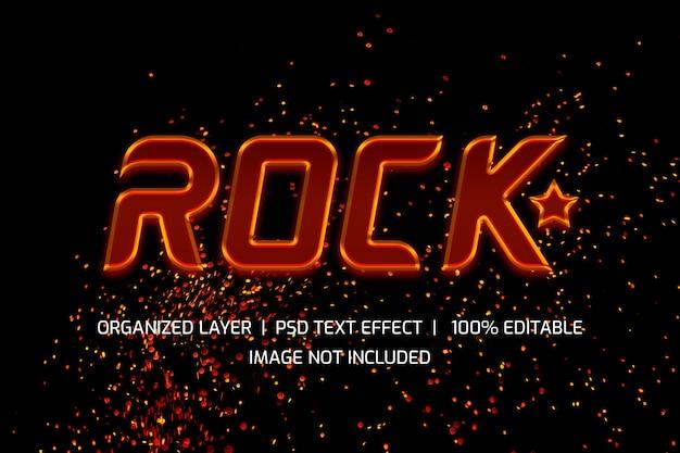 Estilo de camada de texto de estrela do rock