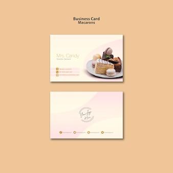 Estilo de cartão de visita macarons