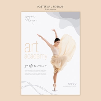 Estilo de cartaz de academia de arte