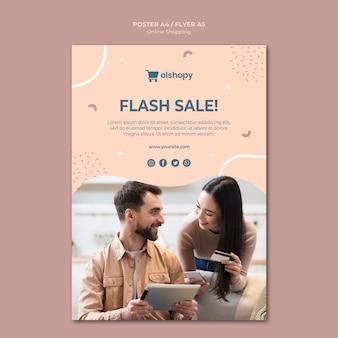Estilo de cartaz de compras online