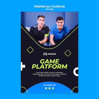 Estilo de cartaz de conceito de jogos