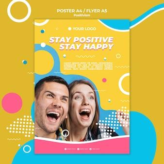 Estilo de cartaz de conceito de positivismo