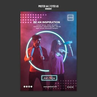 Estilo de cartaz de conceito de treino