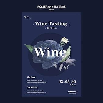 Estilo de cartaz de degustação de vinhos
