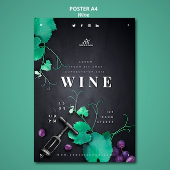 Estilo de cartaz de empresa de vinho