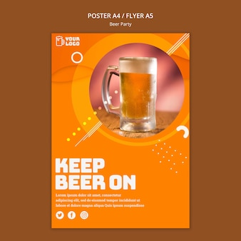 Estilo de cartaz de festa de cerveja