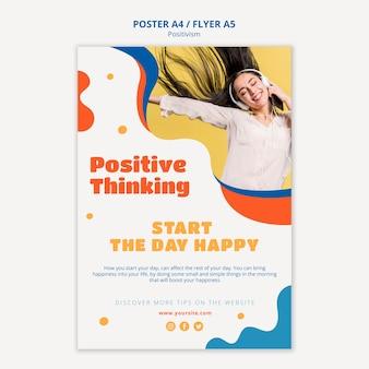 Estilo de cartaz de pensamento positivo