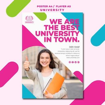 Estilo de cartaz de universidade de conceito de educação