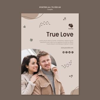 Estilo de cartaz do conceito de casal