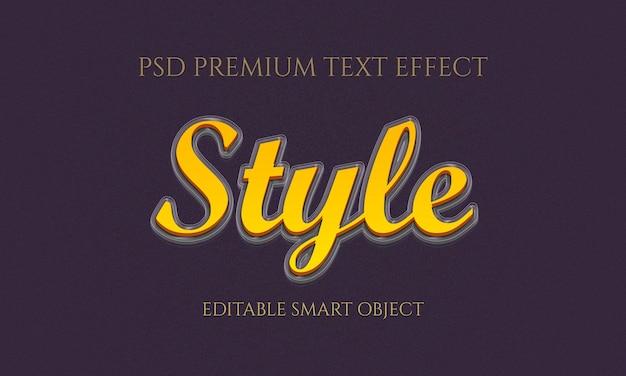 Estilo de design de efeito de texto