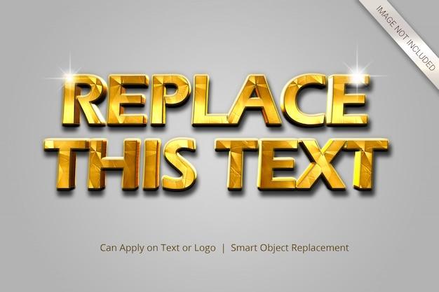 Estilo de efeito de texto 3d