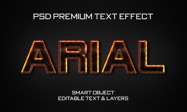 Estilo de efeito de texto arial scifi