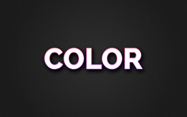 Estilo de efeito de texto colorido