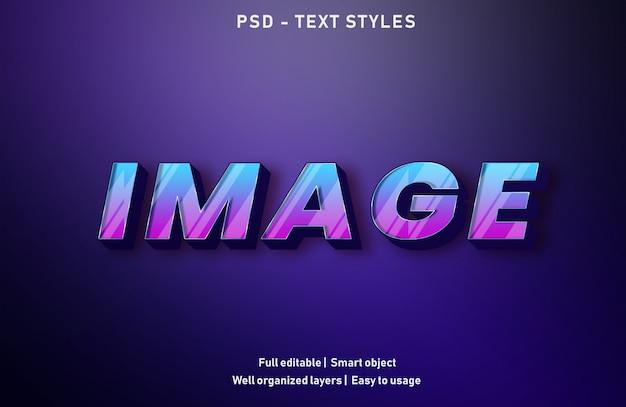 Estilo de efeito de texto da imagem