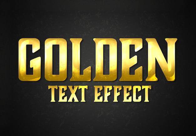 Estilo de efeito de texto de barra de ouro mockup