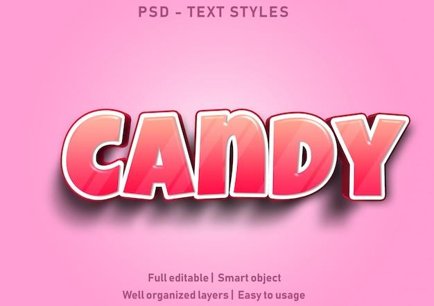 Estilo de efeito de texto de doces