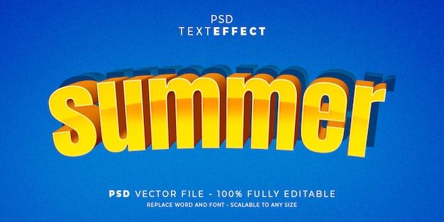 Estilo de efeito de texto de férias de verão premium psd
