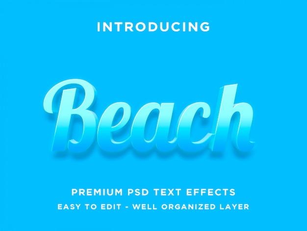 Estilo de efeito de texto de praia