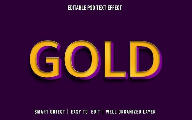 Estilo de efeito de texto editável dourado