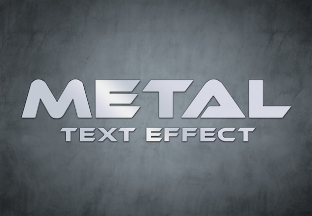 Estilo de efeito de texto em metal
