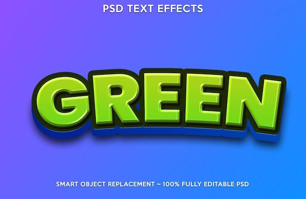 Estilo de efeito de texto greeen